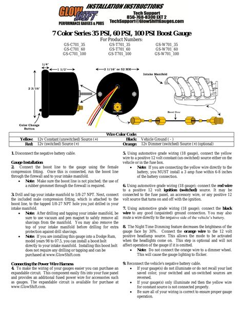 glowshift wiring diagram wiring diagram with description
