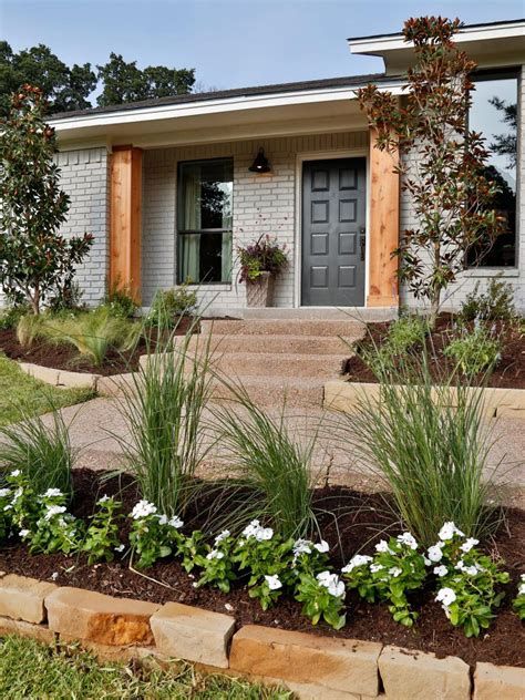 exterior landscaping fixer upper a rush to renovate an 80s ranch home hgtv