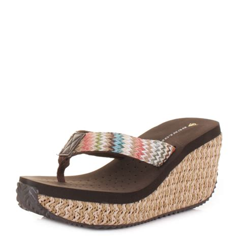 high heel flip flops shoes womens dunlop raffia high heel wedge heel toe post sandals