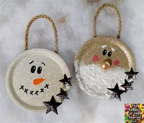 mason jar lid christmas ornaments  christmas