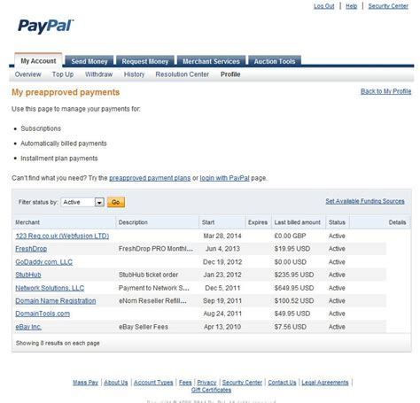 Can I Use Ebay Gift Card Without Paypal - make sure you delete any paypal quot preapproved payments quot you no longer need