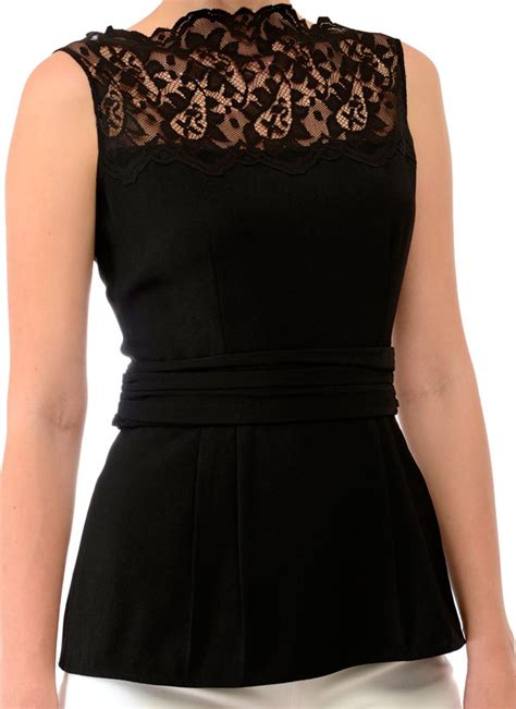 top design swatee singh stunning black peplum top shop tops at