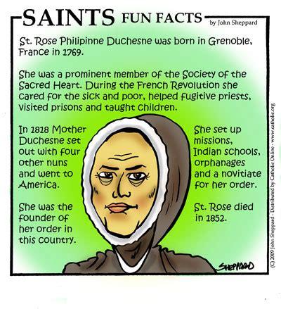 st facts saints facts st philippine duchesne saints