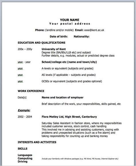 1 page resume templates madrat co