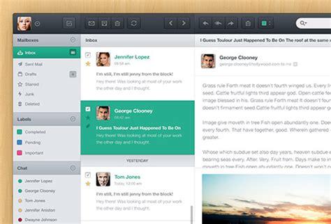 design email application 12 impressive list of email app ui psd design