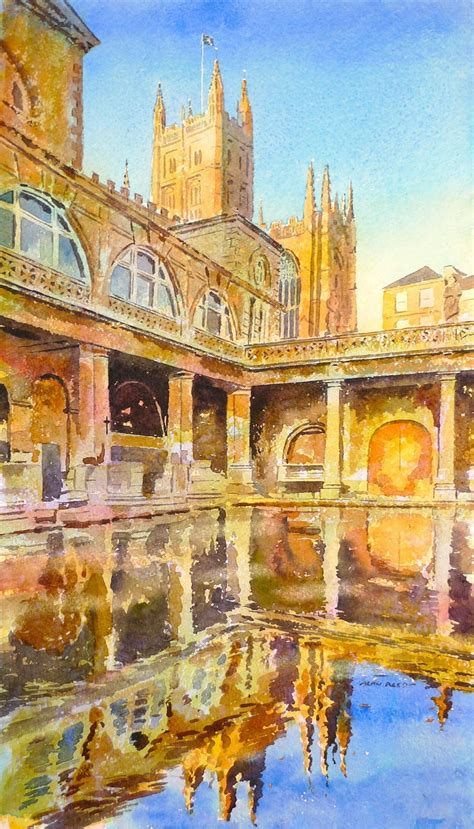 bath painting painting of the roman baths alan reed s painting blog