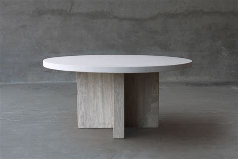 Concrete Kitchen Table Concrete And Reclaimed Elm Dining Table Mecox Gardens