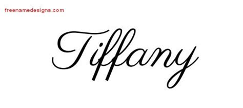 tiffany tattoo designs classic name designs graphic
