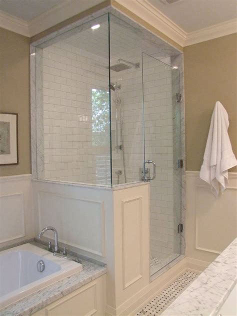 Shower Keeps by On The Inside Of The Shower On The Back Of The Half Wall Is A Built In Soap Niche Which