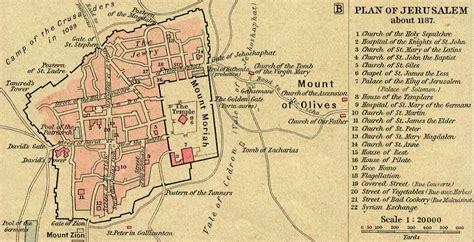 map of jerusalem map of jerusalem in 1187 ad