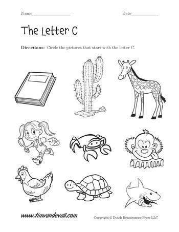 free printable preschool worksheets letter c letter c worksheet 2 tim s printables