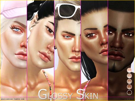 sims 4 cc skin colors ps glossy skintone by pralinesims at tsr 187 sims 4 updates