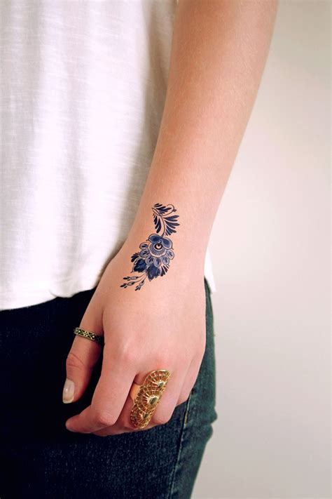 tattoo cute small small delft blue floral tattoos tattoos blue