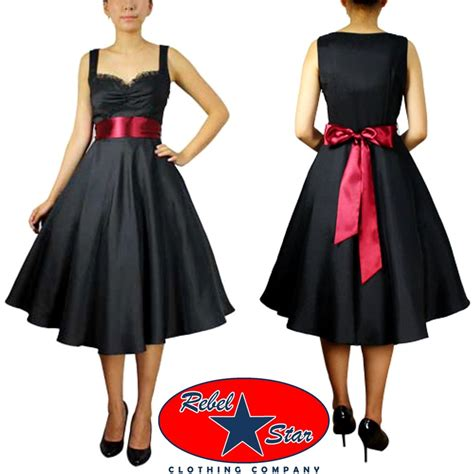 formal swing dress pin 50s satin swing dress rockabilly tattoo pin up gothic