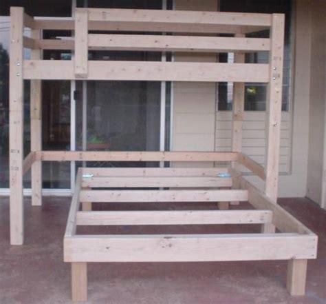 homemade bunk bed plans bed plans diy blueprints