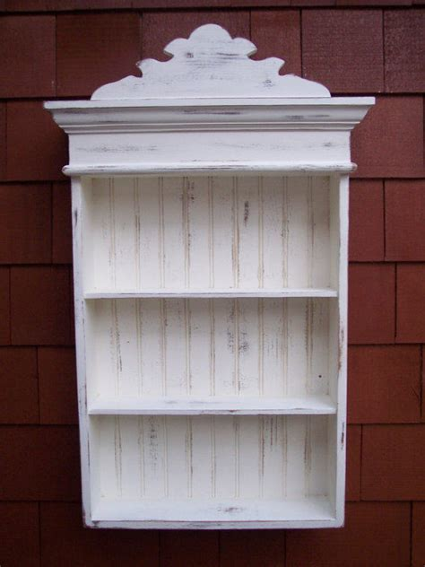 distressed white cabinet bathroom from cozycreekwoodworki - White Shabby Chic Bathroom Cabinet