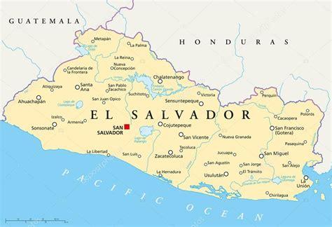 map of el salvador el salvador political map stock vector 169 furian 51811341