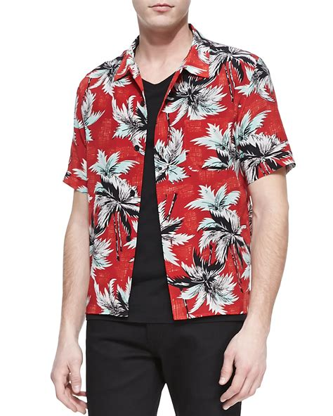 Tree Shirt St T1310 1 lyst laurent palm tree printed shirt in for