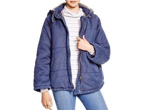 Quilted Denim Jacket by Free Quilted Denim Jacket In Blue Lyst