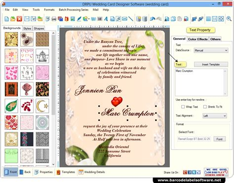 Wedding Card Maker by Wedding Card Maker Software Designs Printable Wedding