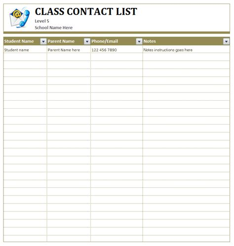 team contact list template class student s contact list ms word template office