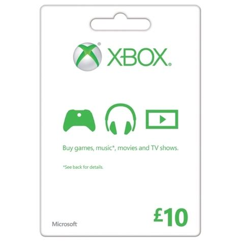 Microsoft Xbox 360 Gift Card - microsoft money gift card ten 10 pounds xbox 360 xbox one 365games co uk