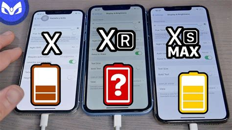 bateria iphone xr vs iphone x vs iphone xs max
