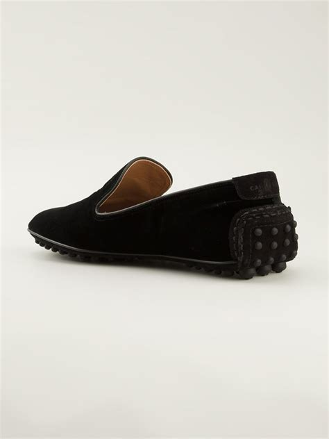 car slippers car shoe crest embroidered slippers in black for lyst