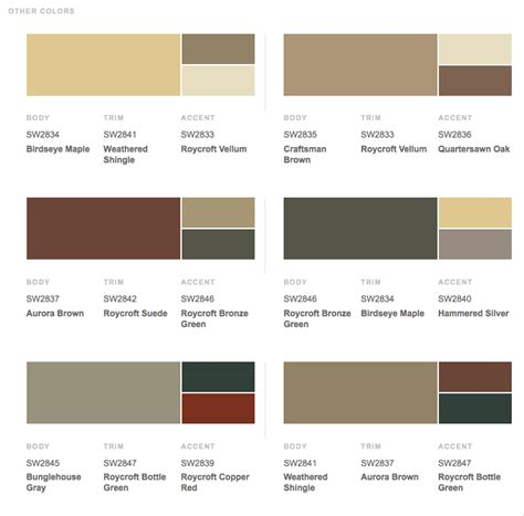 paint color for brown trim the paint schemes for house exterior exterior