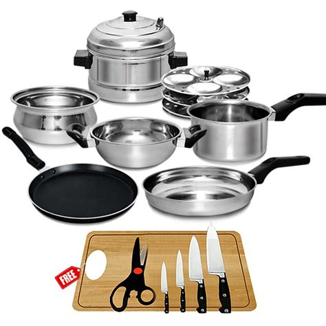 Buy 7 Pcs Induction Friendly Cookware Set   Free Knife Set