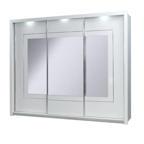 armoire portes coulissantes miroir armoire 3 portes coulissantes panarea miroirs led achat