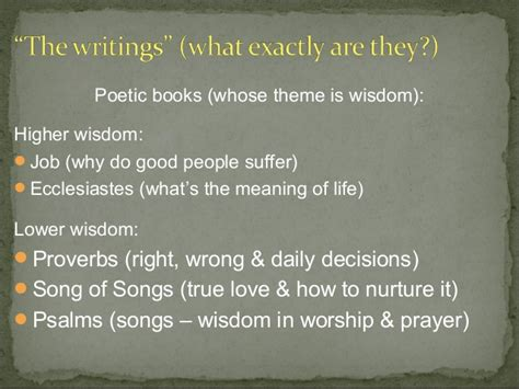 themes of wisdom literature ot session 6 wisdom literature part 2