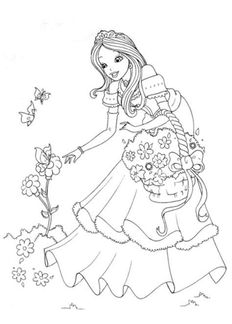 Coloriage Princesse 123 Dessins 224 Imprimer Et 224 Colorier
