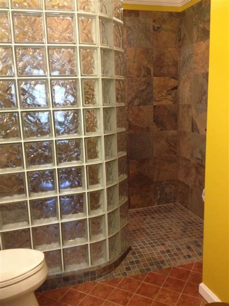 Prefab Shower Walls by Curved Prefabricated Glass Block Shower Wall Dayton Ohio