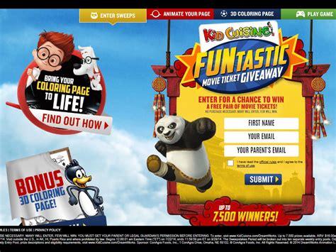 Movie Ticket Giveaway - kid cuisine funtastic movie ticket giveaway