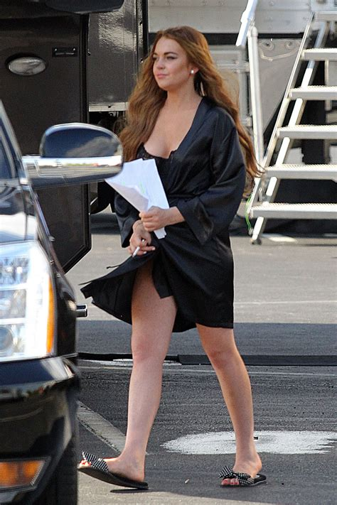 Lindsay Lohan Working On The Set Of I Kno by Lindsay Lohan On The Set Of Scary 5 In Atlanta