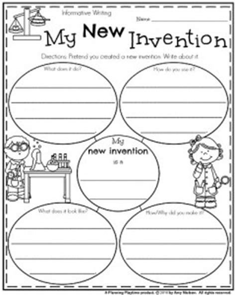 Inventors Report Template Second Grade Grade Writing Prompts For Winter Planning Playtime