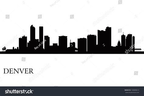 skyline silhouette cliparts co denver city skyline silhouette background vector