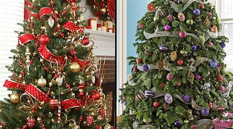 different christmas tree decoration themes