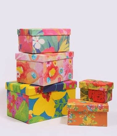 Paper Bag Motif Bunga 23x12x25 decorative paper boxes denjoboxes
