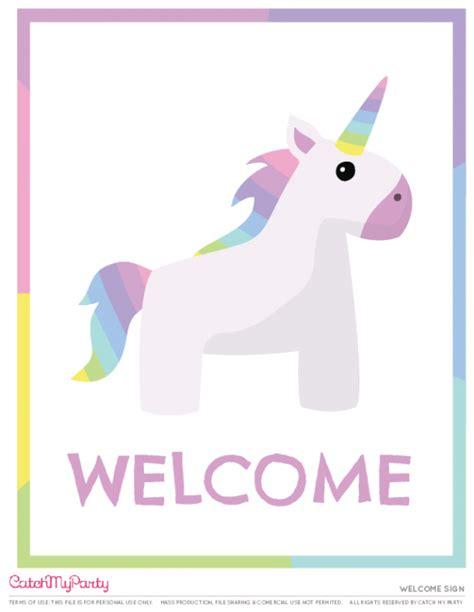 printable unicorn bunting the most beautiful free unicorn birthday party printables