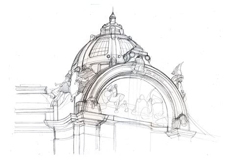architecture pencil sketches city illustration pencil drawings