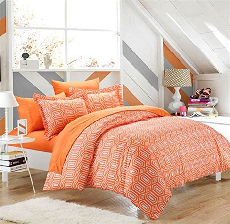 orange bedding sets rise shine orange and white comforter bedding sets