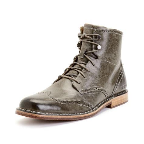 sebago boots mens sebago hamilton ii wing tip boots in gray for