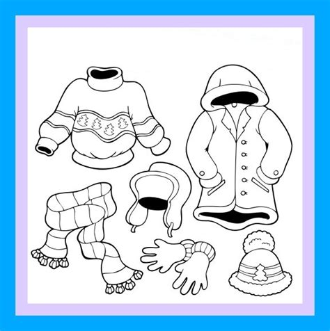 preschool coloring pages winter clothes winter clothes pictures activities myideasbedroom com