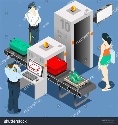 security scan airport transport security scan portal stock