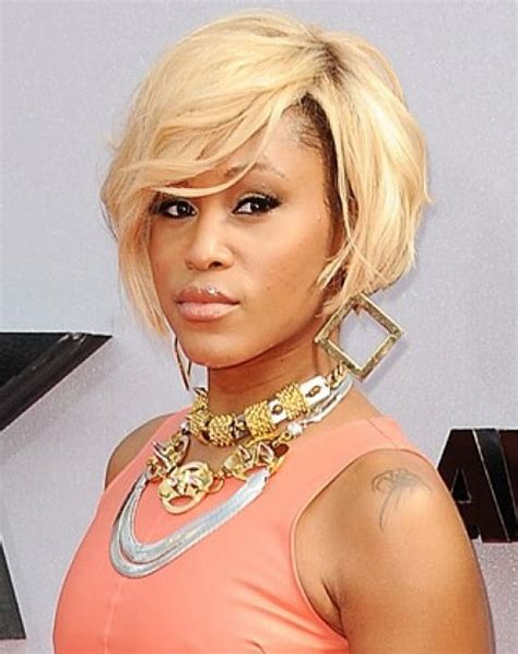 celebrity short african american hairstyles african american celebrity short bob hairstyles with side