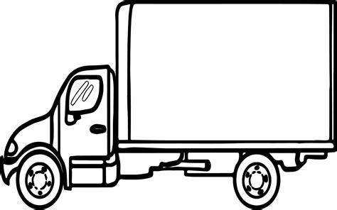 Box Truck Coloring Page | truck big box coloring page wecoloringpage