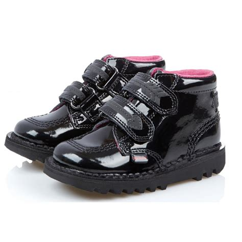 kickers kick arro infant patent black patent leather