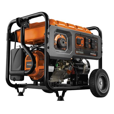 generac 7 000 watt gasoline powered electric start